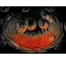 Sunburst Bubbles Photographic Print