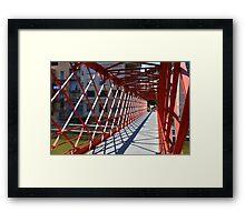 red Bridge  Inside view  Framed Print