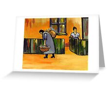 The fish seller ( from my original acrylic painting ) Greeting Card
