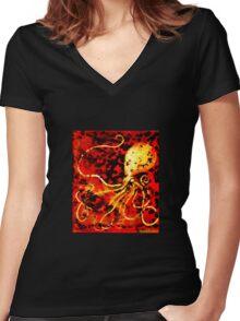 Sea Devil Women's Fitted V-Neck T-Shirt