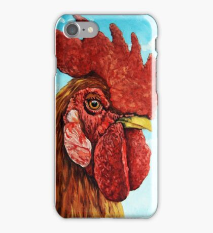 ROOSTER - realistic oil painting farm animal iPhone Case/Skin