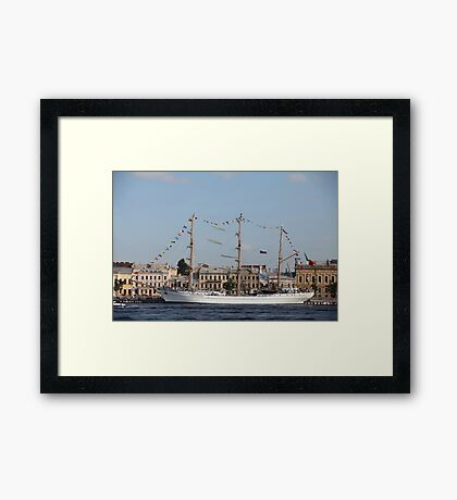 Mexican three-masted barque Cuauhtemoc Framed Print