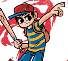 Ness Saves The Earth Sticker
