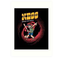Ness Saves The Earth Art Print