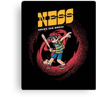 Ness Saves The Earth Canvas Print