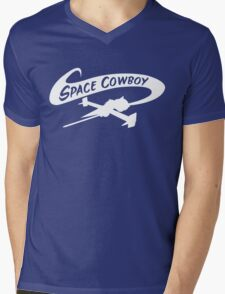 Space Cowboy in White Mens V-Neck T-Shirt