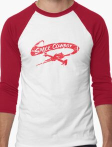 Space Cowboy - Distressed Red Men's Baseball ¾ T-Shirt