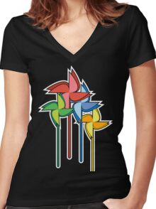 Colors of the wind Women's Fitted V-Neck T-Shirt