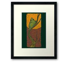 Butter Moon Bear Framed Print