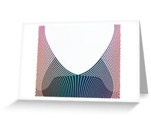 Computer Generated Line Illustration Greeting Card