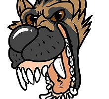 Toothy Pup - German Shepherd by Blutfuss