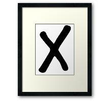 X [BLACK] Framed Print