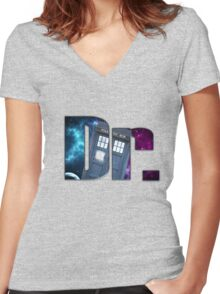 Dr....Who? Women's Fitted V-Neck T-Shirt