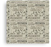 Coffee Typography Canvas Print