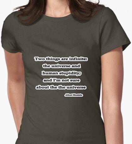 Infinite, Albert Einstein  Womens Fitted T-Shirt