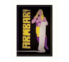 """Man of 1004 Armbars"" Wrestling Design Art Print"