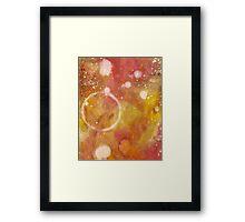 Paint Ring 4 Framed Print