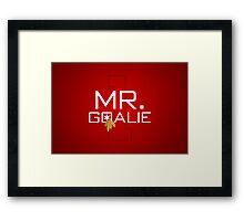 Mr. Goalie Framed Print