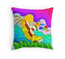 Yellow Submarine Trip Throw Pillow