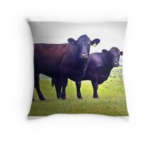 Cley Cows B Throw Pillow