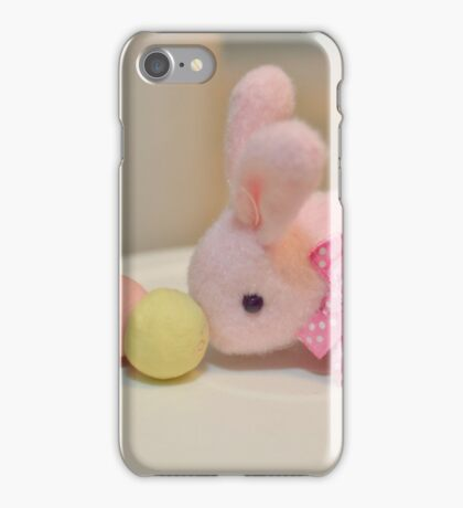 Bunny Collection #10 - a bunny and dango rice balls on a stick iPhone Case/Skin
