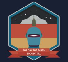 The Day The Earth Stood Still Badge Kids Tee