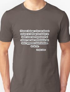 Human Beings, Douglas Adams T-Shirt