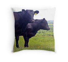 Cley Cows Too A Throw Pillow