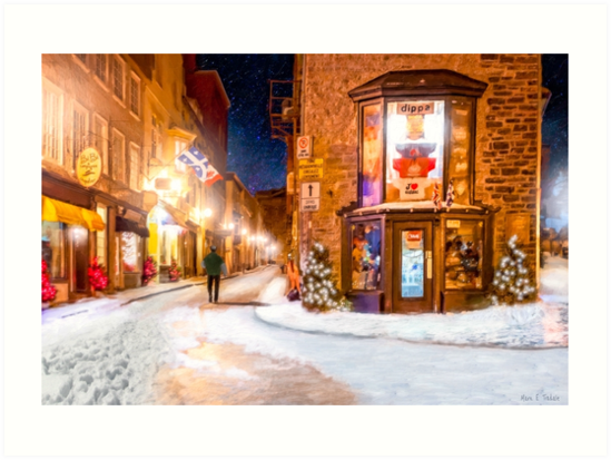 A Winter Night in Old Quebec by Mark Tisdale