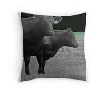 Cley Cows Too D Throw Pillow