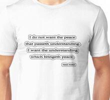 I want the peace that, Helen Keller Unisex T-Shirt