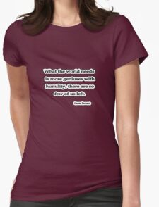 Humilty, Levant Womens Fitted T-Shirt