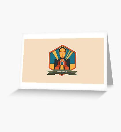 Metropolis Badge Greeting Card