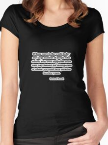 Desire, Bertrand Russell  Women's Fitted Scoop T-Shirt