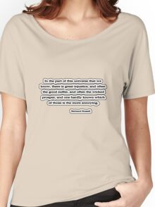 Universe we know, Bertrand Russell Women's Relaxed Fit T-Shirt
