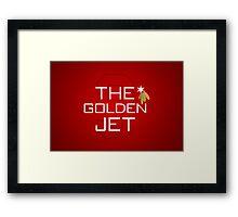 The Golden Jet Framed Print