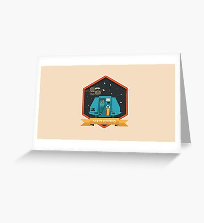 Silent Running Badge Greeting Card