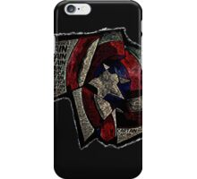 Captain America - Shattered Shield with text iPhone Case/Skin