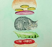 Catsup - Cat Burger Delight! by catshrine