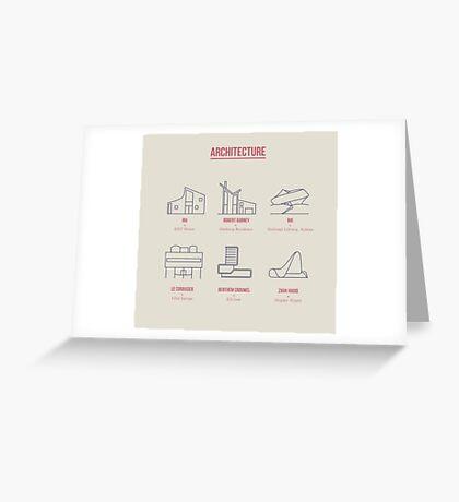 Architecture Line Design Greeting Card