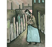 The mill worker ( from my original acrylic painting digitally enhanced) Photographic Print