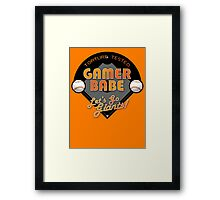 Torture Tested Gamer Babe 2 Framed Print