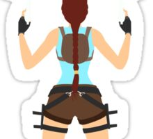 Lara Croft - I Only Play For Sport Sticker