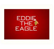 Eddie the Eagle Art Print