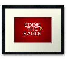 Eddie the Eagle Framed Print