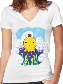 Dumbo Octopus Women's Fitted V-Neck T-Shirt