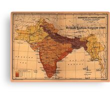 British Indian Empire 1909 Canvas Print