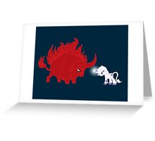 My Little Epic Battle Greeting Card