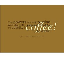 Powers of Coffee Photographic Print