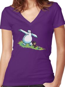 Best Buds Women's Fitted V-Neck T-Shirt